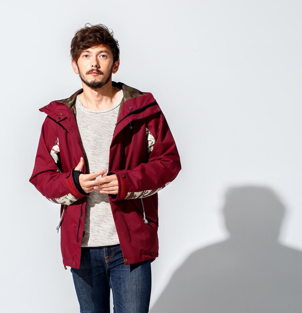 Mods coat ジャケット Burgundy 画像2
