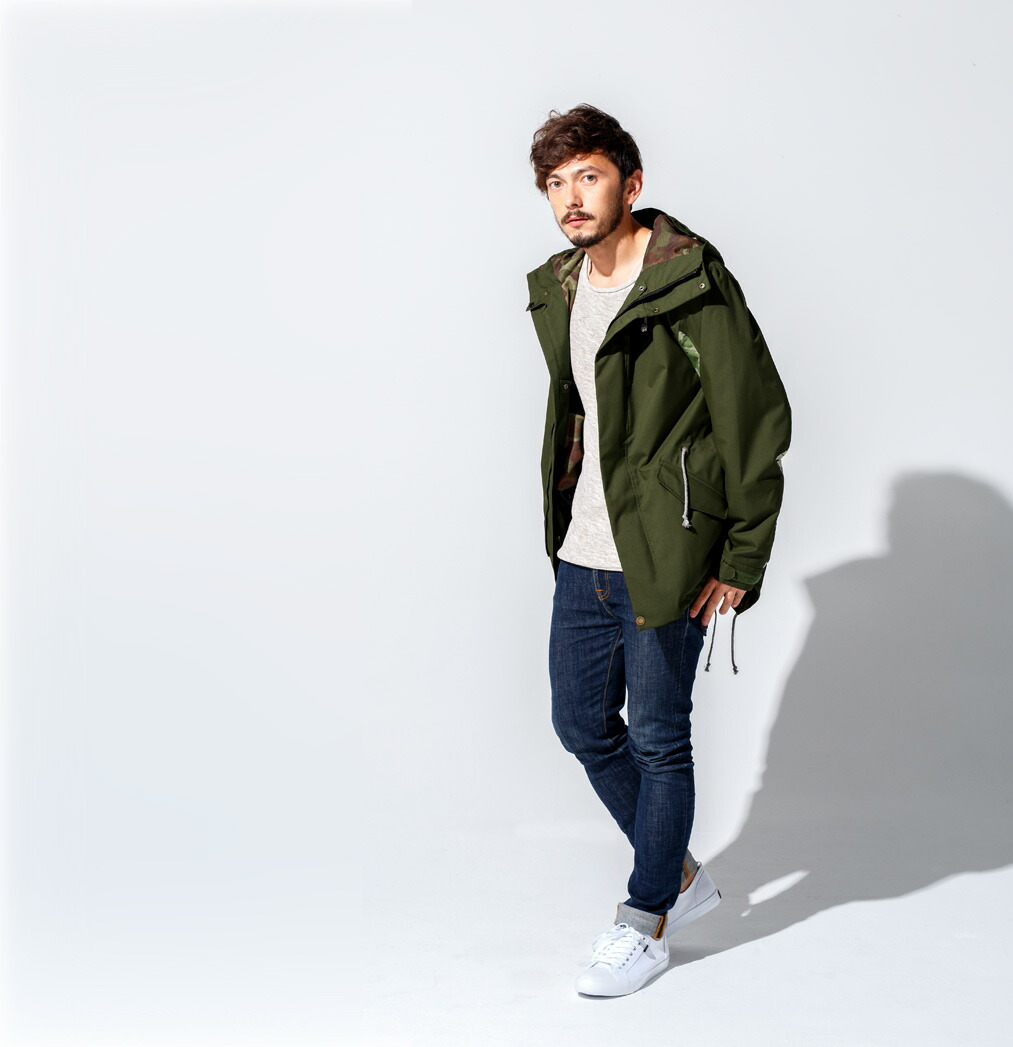 Mods coat ジャケット Khaki 画像1