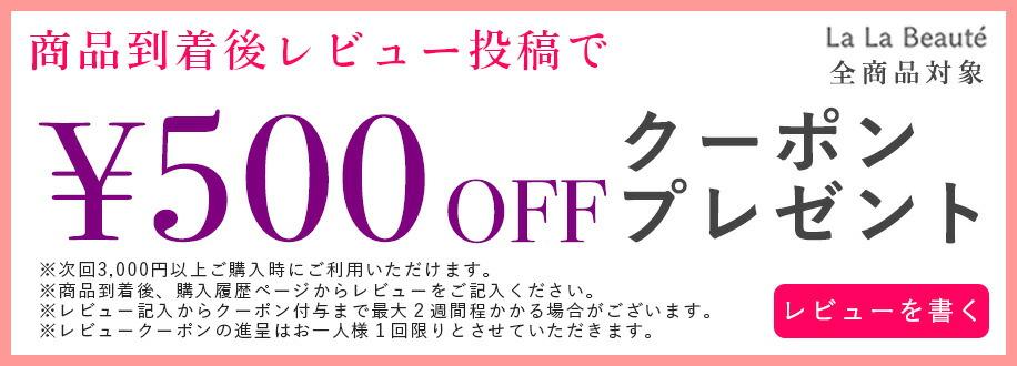 レビューキャンペーン レビューを書いて 割引 クーポン 500円OFF プレゼント