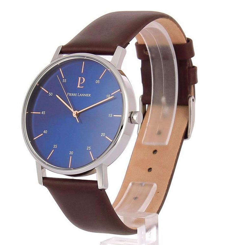 ピエールラニエ メンズ 腕時計 おしゃれ シンプル ネイビー プレゼント ギフト 御祝 送料無料 ワンタッチベルト ワンタッチばね棒