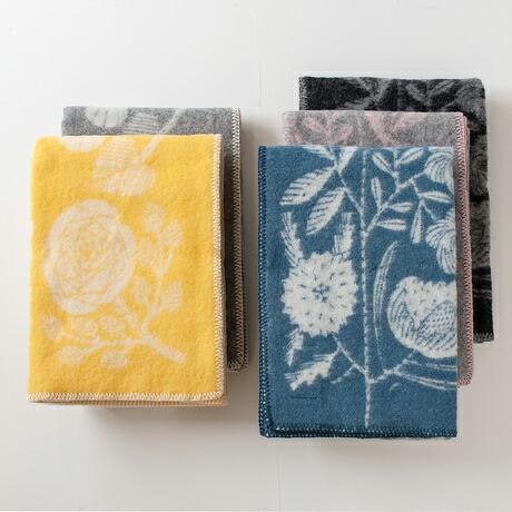 ウールブランケット(ラプアンカンクリ) Wool blanket KOIRA JA KISSA/VILLIKUKKA(LAPUAN KANKURIT)