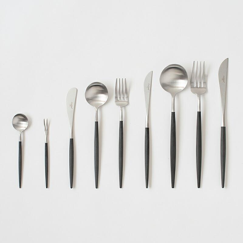 ゴア ブラック×シルバー カトラリー(クチポール) GOA Cutlery(Cutipol)