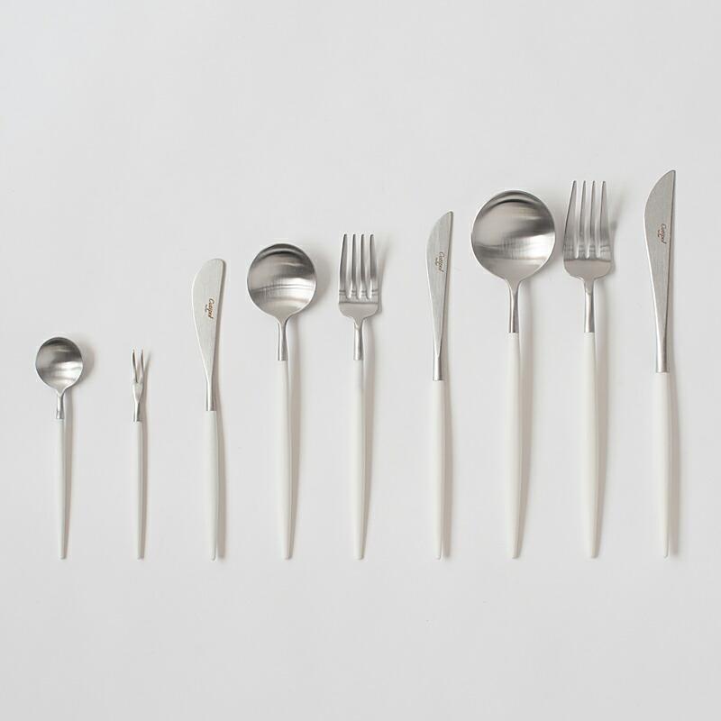 ゴア ホワイト×シルバー カトラリー(クチポール) GOA White×Silver Cutlery(Cutipol)