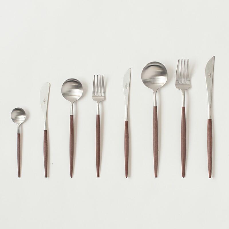 ゴア ブラウン×シルバー カトラリー(クチポール) GOA Brown×Silver Cutlery(Cutipol)