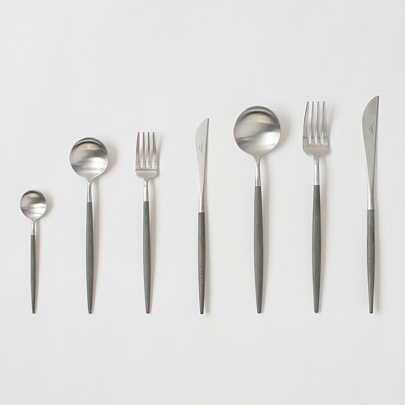 ゴア グレー×シルバー カトラリー(クチポール) GOA Grey×Silver Cutlery(Cutipol)