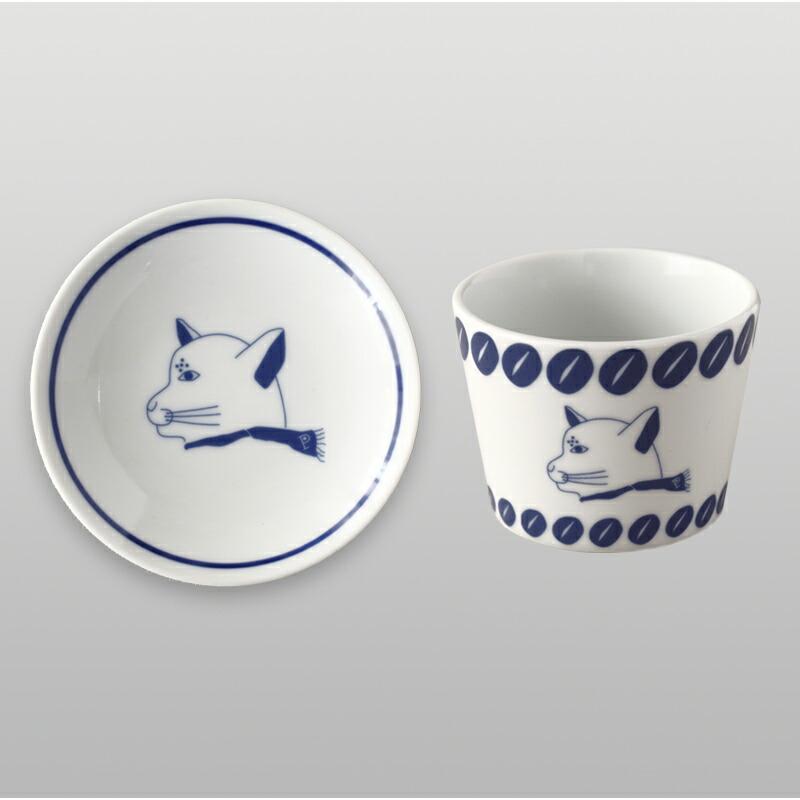 伊万里焼 小皿・そば猪口 (陶窯 寛右エ門×プシプシーナ珈琲)imari round plate sobachoko(toyo kanemon×pushi pushiina coffee)
