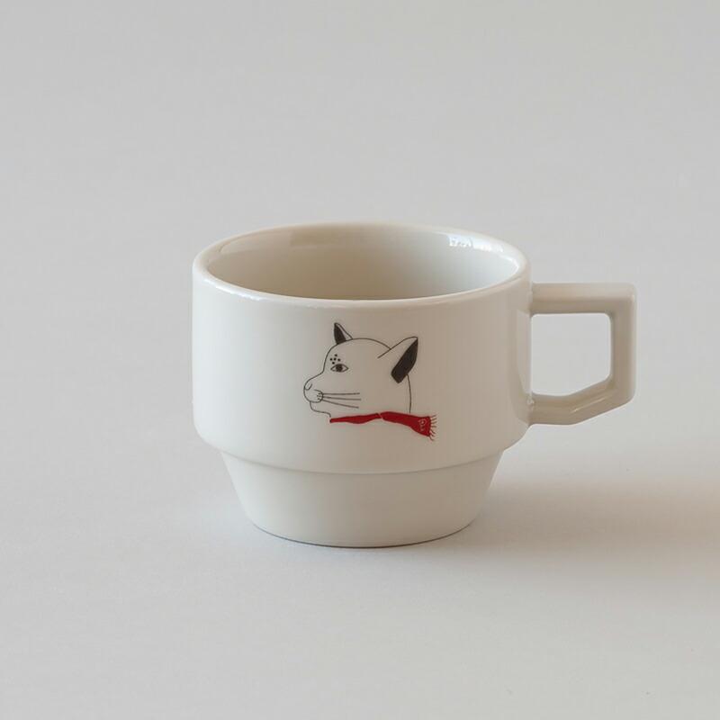 ブロックマグ(ハサミ×プシプシーナ珈琲) Block Mug(HASAMI×pushi pushiina coffee)