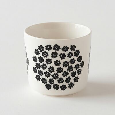 ラテマグ プケッティ ホワイト×ブラック(マリメッコ) Latte Mug(marimekko)