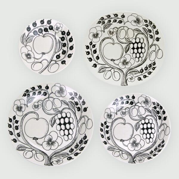 パラティッシ ブラック プレート/オーバルプレート(アラビア) Paratiisi Black Plate/Oval Plate(ARABIA/アラビア)