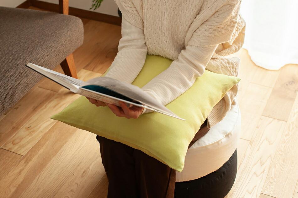 リネンクッションカバー(ファイバーアートステューディオ) linen cushion cover(FIBER ART STUDIO)