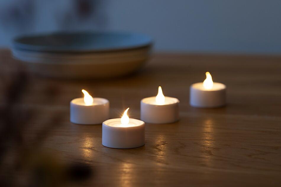 ローン LEDキャンドル 4個セット(シリウス) LONE LED CANDLE(SIRIUS),LED,ティーライト,ティーキャンドル,北欧,キャンドル,電池,ろうそく,ロウソク,照明,灯