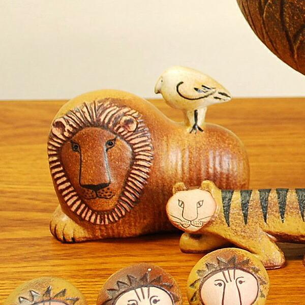 ライオンとトリ(リサ・ラーソン) Lion with Bird(Lisa Larson)