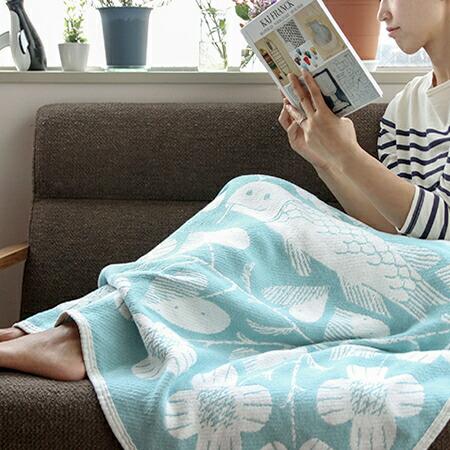 コットンブランケット 90×140cm(ラプアンカンクリ) Cotton Blanket(LAPUAN KANKURIT)