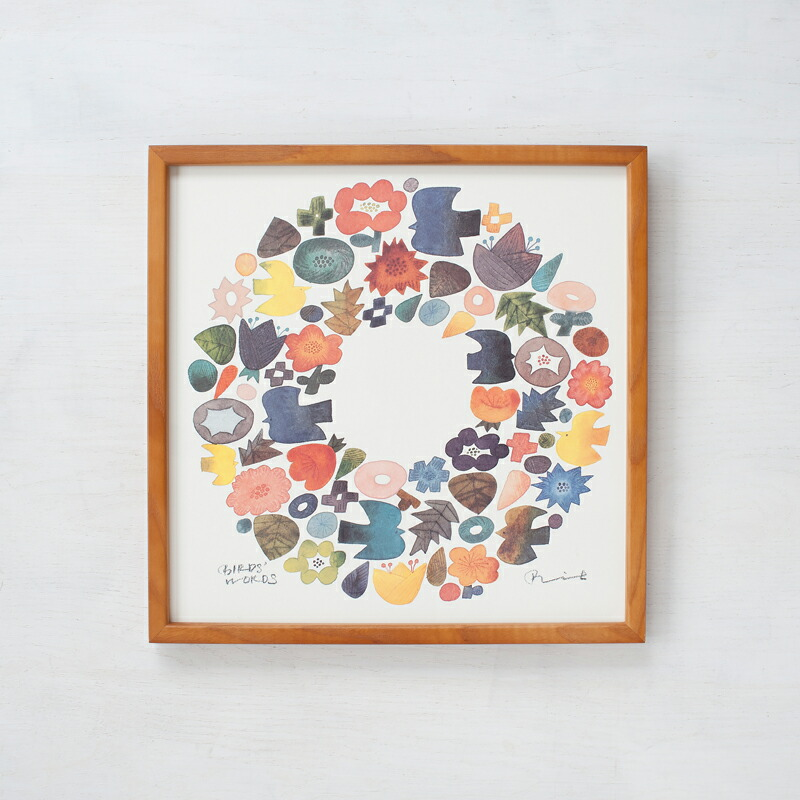 ポスター+木製フレーム(BIRDS' WORDS)