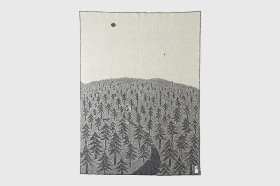 ハウスインザフォレスト ウールブランケット(クリッパン×ミナ ペルホネン) HOUSE IN THE FOREST WOOL BLANKET(KLIPPAN×mina perhonen)