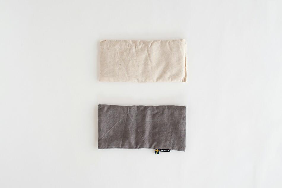 麦の温冷 ネックピロー・アイピロー ウォッシュドリネン(クリッパン) Neck pillow, Eye pillow(KLIPPAN)