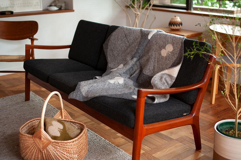 ペルホネン ウールブランケット ハーフ 90×130cm(クリッパン×ミナ ペルホネン) PERHONEN Wool Blanket Harf(KLIPPAN)