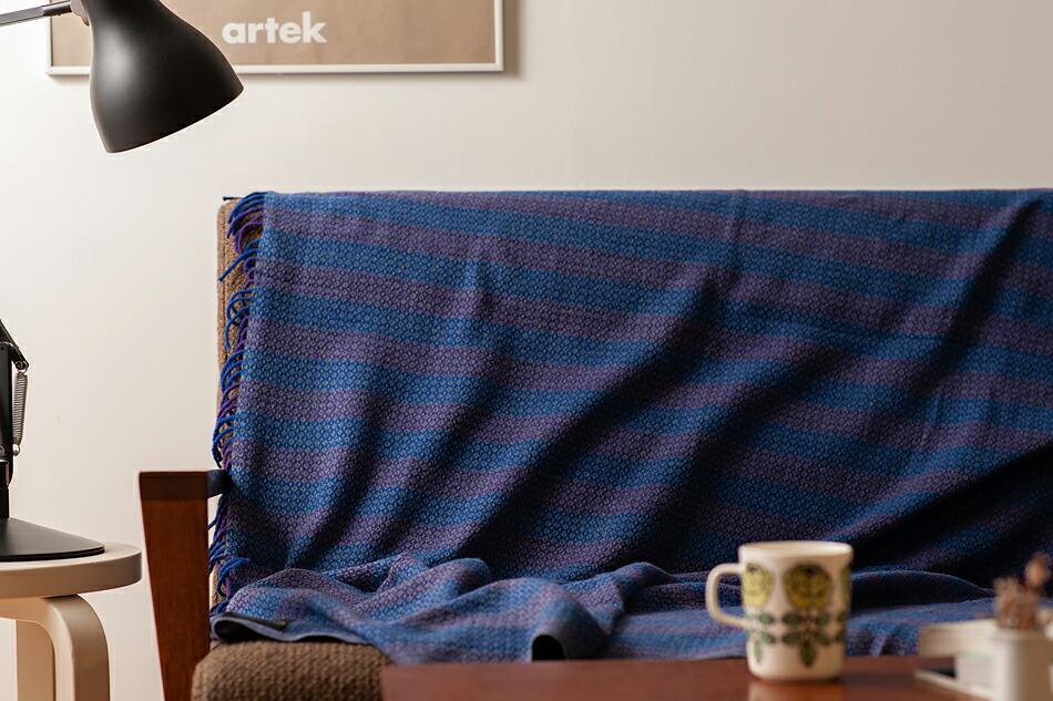 ブランケット 130×190cm 100%リサイクルドウール(カディアンドコー) Blanket 130×190cm 100% Recycled Wool(Khadi and Co)