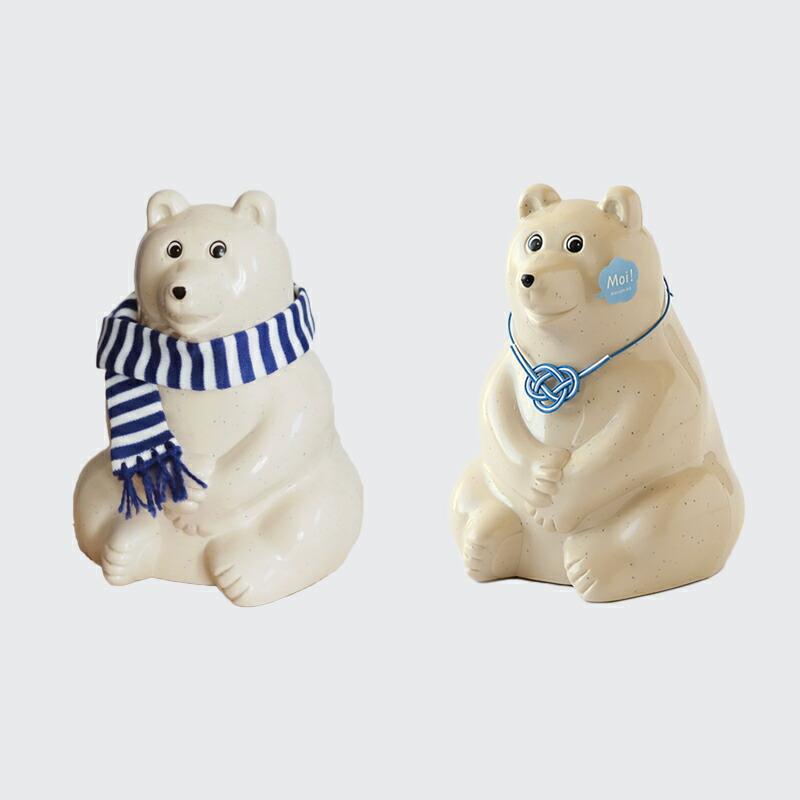 シロクマ貯金箱(プラステップ) Polar Bear Money Box(PLASTEP)