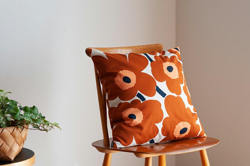 クッションカバー(マリメッコ) Cushion Cover(marimekko) ウニッコ/Unikko,コットン×チェスナット