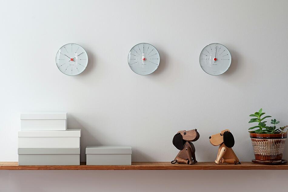アルネ・ヤコブセン/ARNE JACOBSEN、バンカーズ/BANKERS(ローゼンダール/ROSENDAHL Bankers ウェザーステーション/Hygrometer/Thermometer、Wall Clock、温度計、湿度計、壁掛け時計)、北欧雑貨、北欧インテリア