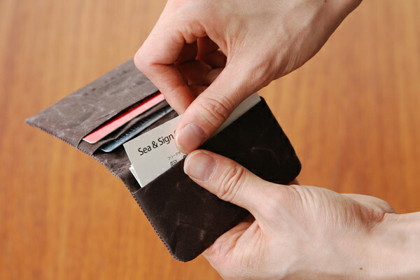 SIWA   紙和 コインケース スナップ付