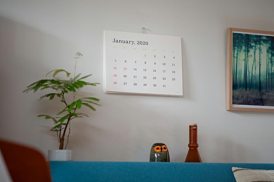 葛西薫 カレンダー 2020(アンドーギャラリー) Kasai Kaoru calendar 2020(ANDO GALLERY)