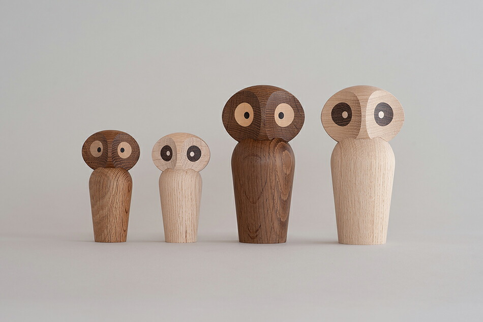 ARCHITECTMADE,アーキテクトメイド,ふくろう、フクロウ,北欧,オブジェ,木製,