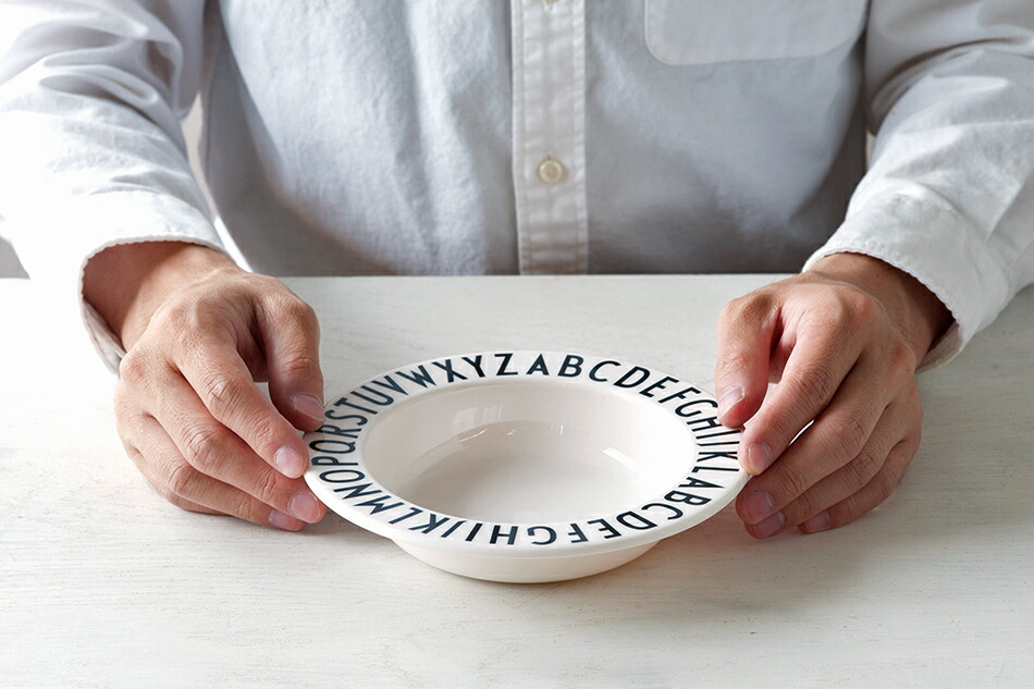 メラミン ディーププレート(デザインレターズ) Melamine Deep Plate(DESIGN LETTERS)
