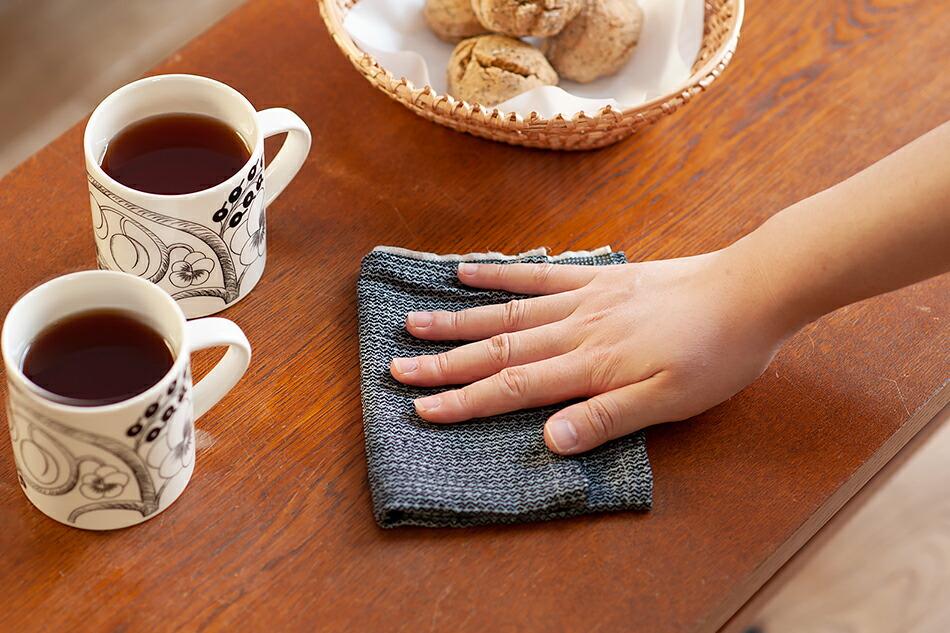 NO.4 ティータオル、NO.9 テーブルナプキン・ディッシュクロス(カリン・カーランダー) NO.4 TEA TOWEL, NO.9 TABLE NAPKIN/DISHCLOTH(Karin Carlander)