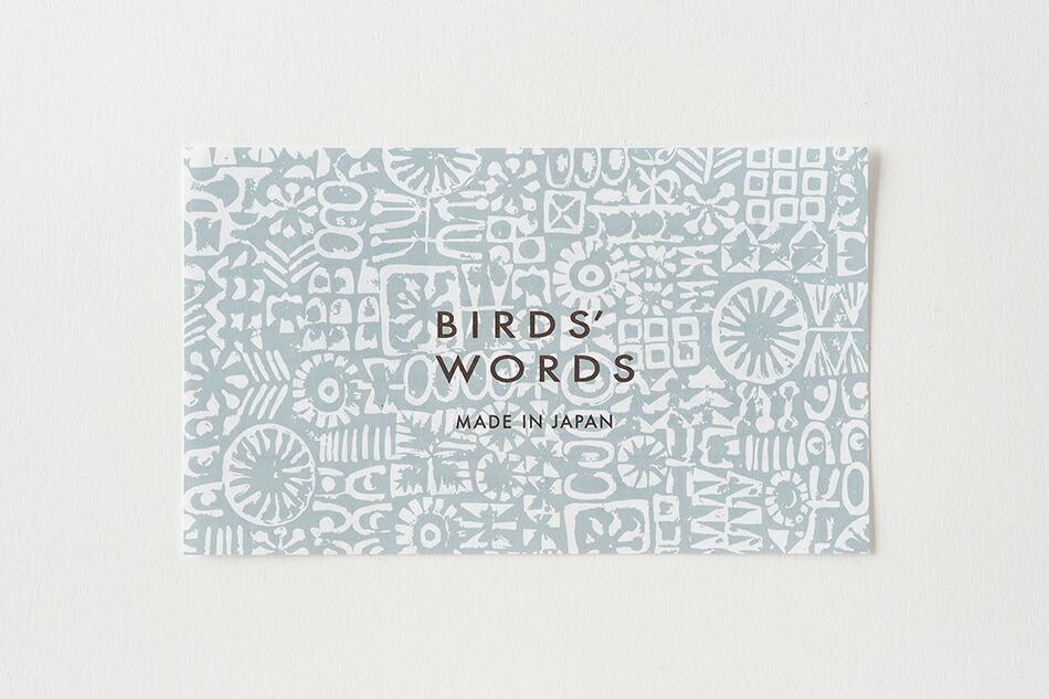 パターンド カップ(バーズワーズ) PATTERNED CUP(BIRDS' WORDS)