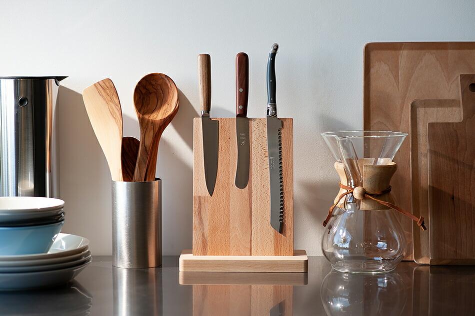 ライヨール マグネティック ウッド ナイフブロック(ジャン・デュボ) Laguiole Magnetic Wood Knife Block(Jean Dubost)