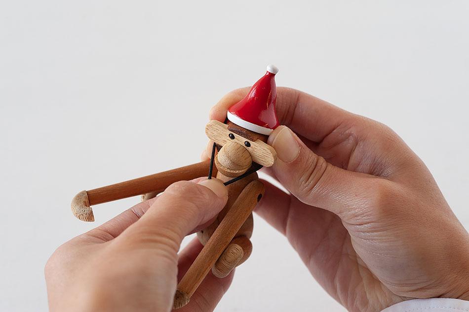 サンタキャップ・モンキー用(カイ・ボイスン デンマーク) Monkey's Santa cap(KAY BOJESEN DENMARK)