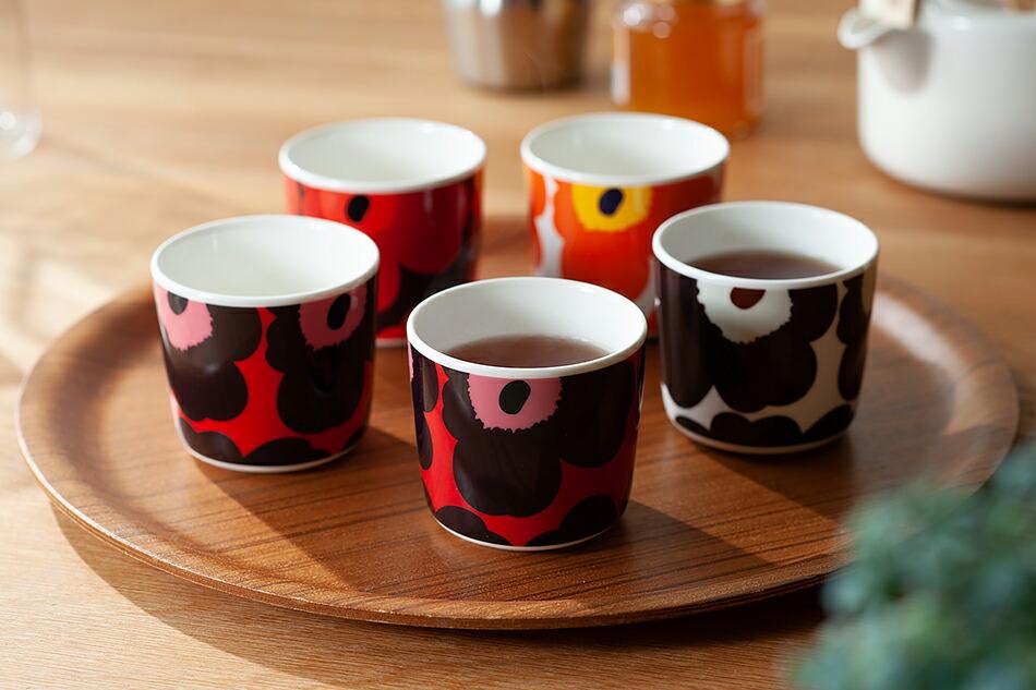 marimekko Unikko Latte Mug REDxVIOLET