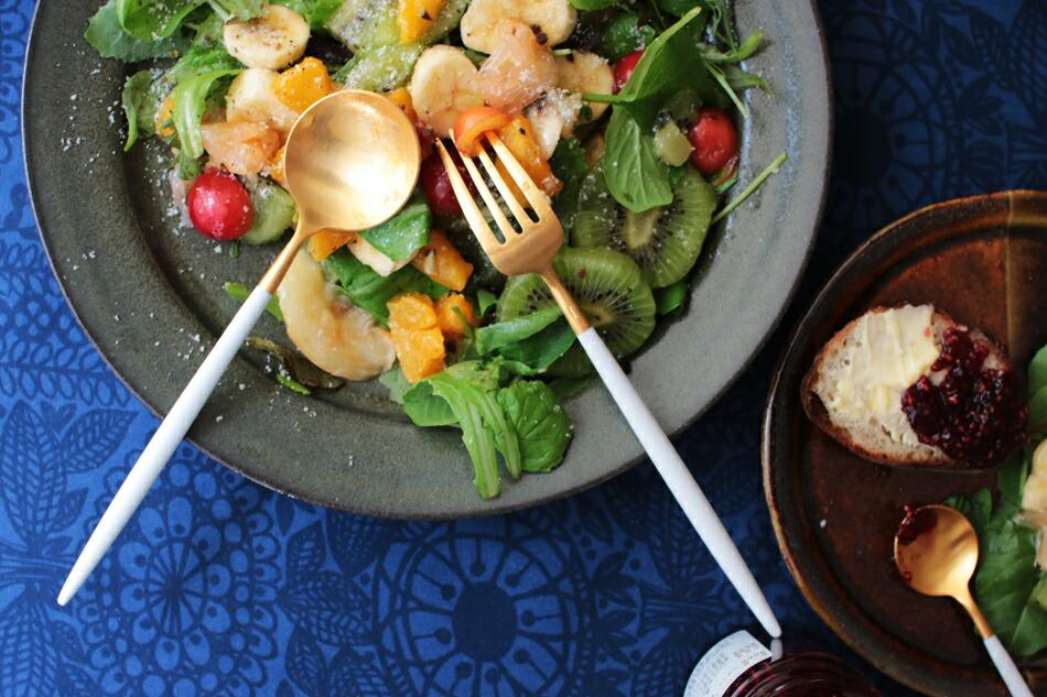 ゴア ホワイト×ゴールド カトラリー(クチポール) GOA White Gold Cutlery(Cutipol)