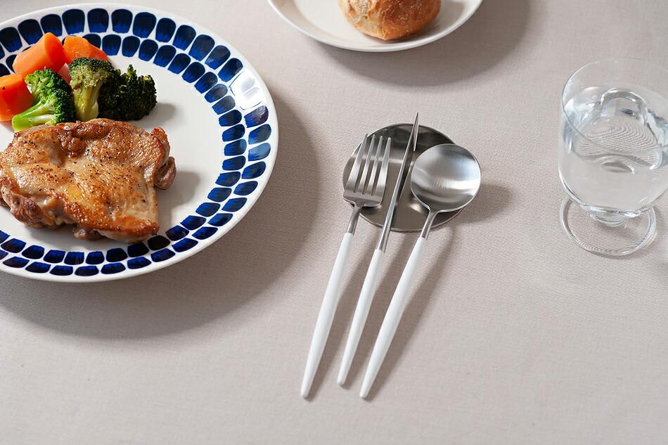 ゴア ホワイト×シルバー カトラリー(クチポール) GOA White Silver Cutlery(Cutipol)