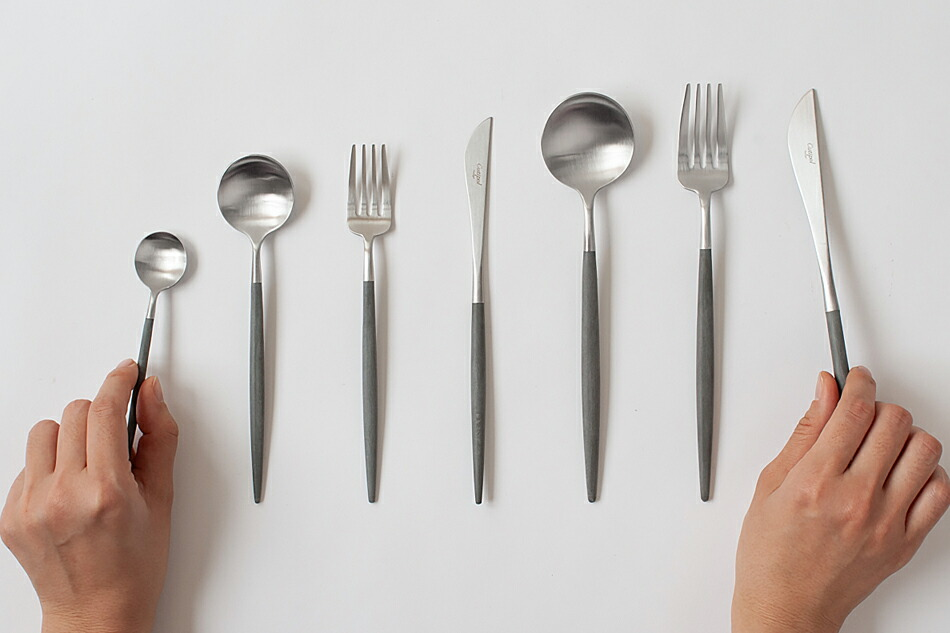 ゴア グレー×シルバー カトラリー(クチポール) GOA Grey Silver Cutlery(Cutipol)