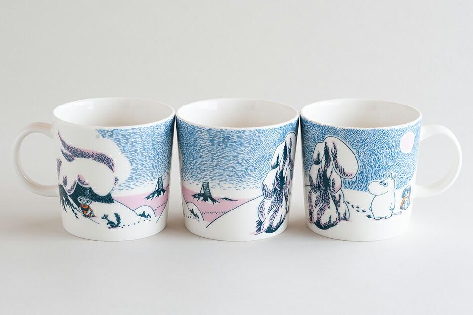 ムーミンマグ クラウンスノーロード moomin mug snow road