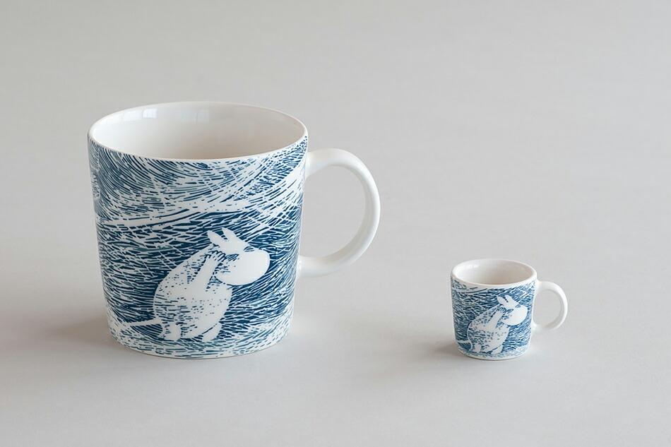 ムーミンマグ スノーブリザード moomin mug snow blizzard
