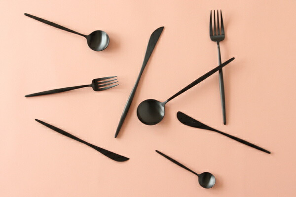 Cutipol MOON MATT Black Cutlery