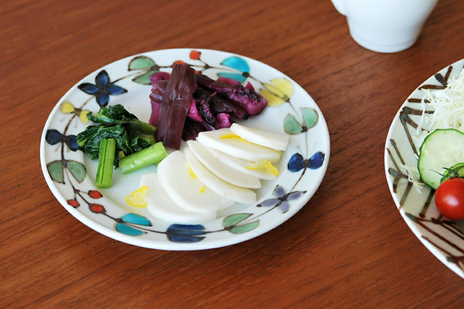 色絵 花繋ぎ 5寸皿