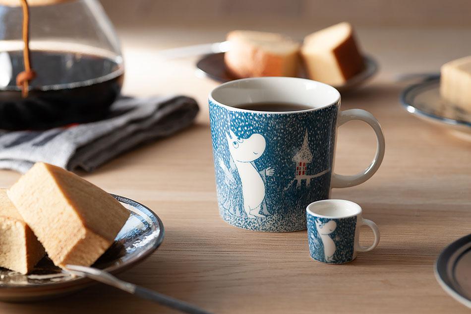 ムーミンマグ ライト スノーフォール moomin mug light snowfall