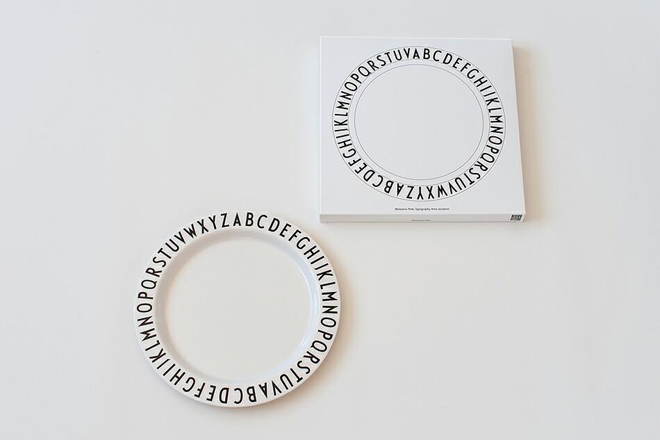 メラミン ディナープレート(デザインレターズ) Dinner Plate(DESIGN LETTERS)