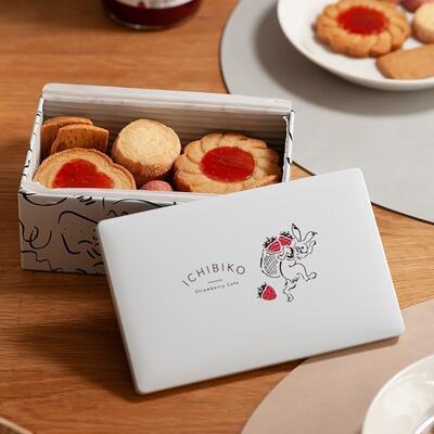 いちごジャムクッキーアソート缶(いちびこ × free design)