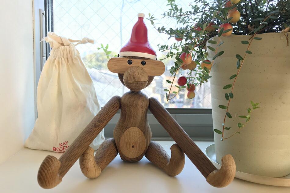 サンタキャップ・モンキーS用(カイ・ボイスン デンマーク) Monkey's Santa cap(KAY BOJESEN DENMARK)