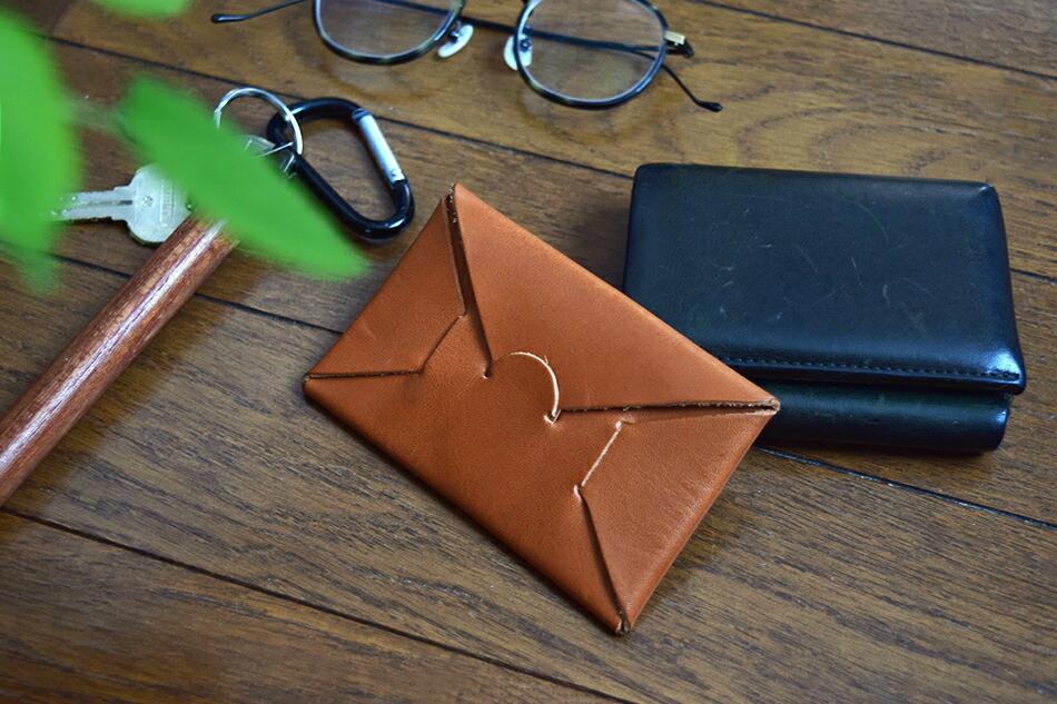 シームレス カードケース キャラメルブラウン【free design別注】(イロセ) SEAMLESS CARD CASE(irose)