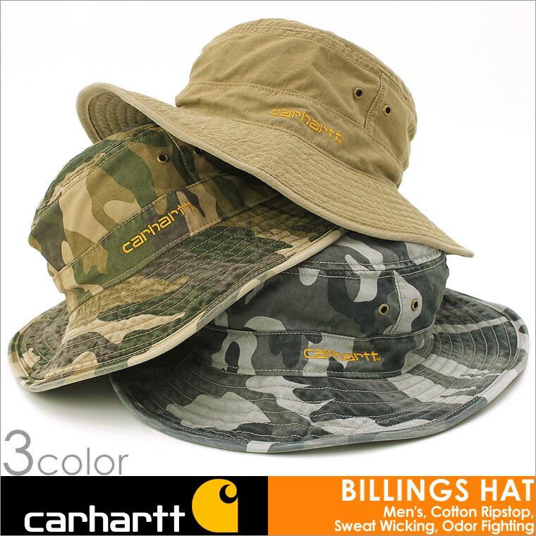 【カーハート carhartt】 キャップ ハット メンズ 迷彩 つば広 大きいサイズ つば広ハット モデルウォッシュ キャップ 帽子 メンズ アメカジ メンズ