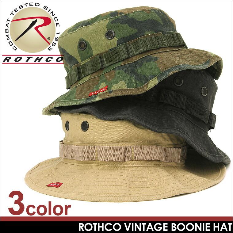 ROTHCO (ロスコ) ブーニーハット 帽子 キャップ ワークキャップ メンズ 迷彩 無地 ミリタリー