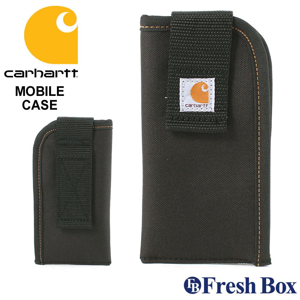 カーハート スマホポーチ ベルト装着可 107601B USAモデル|ブランド Carhartt|スマホケース 撥水 【W】