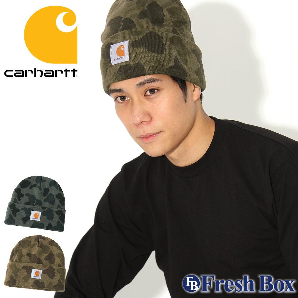 Carhartt カーハート ニット帽 メンズ ブランド ニットキャップ 折り返し ビーニー 帽子 メンズ ニット キャップ [KNIT CAMO BEANIE] (carhartt-104557)